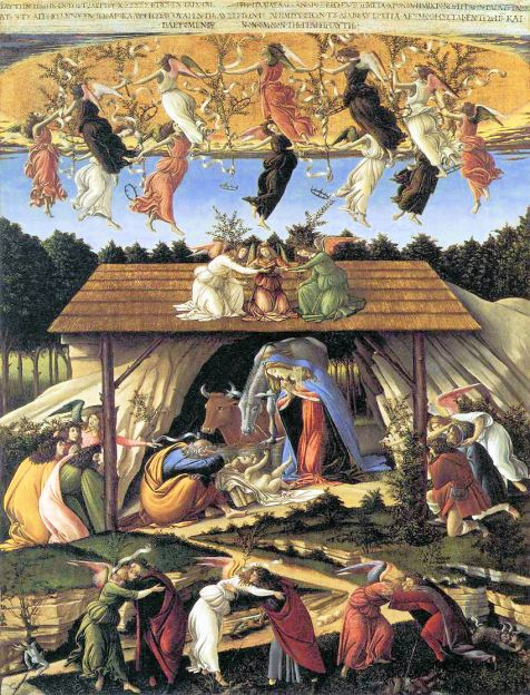 """The Mystical Nativity."" Sandro Botticelli, c.1500-01 National Gallery, London."