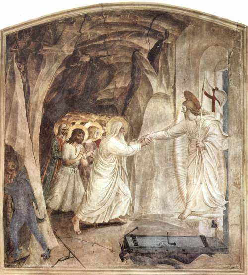 Christ Harrowing Hell, Fra Angelico (15th c.). In the church of San Marco, Florence.